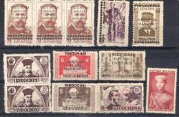 VIETNAM ! Timbres Anciens D'INDOCHINE SURCHARGES Depuis 1940 - Viêt-Nam