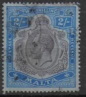 MALTA - YVERT N°51  OBLITERE (INFIME TROU D'EPINGLE) - COTE = 60 EUR. - Malta