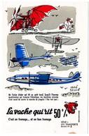 Buvard  La Vache Qui Rit, Fromageries Bel. Série Les Transports N°3 - Blotters