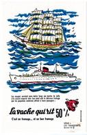 Buvard  La Vache Qui Rit, Fromageries Bel. Série Les Transports N°2 - Buvards, Protège-cahiers Illustrés