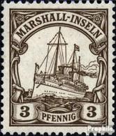 Marshall-Inseln (Dt. Kol.) 13 Postfrisch 1901 Schiff Kaiseryacht Hohenzollern - Kolonie: Marshall-Inseln