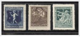 Ungheria - 1924 - Nuovo/new MH - Tubercolosi - Mi N. 380/82 - Neufs