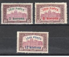 Ungheria - 1920 - Nuovo/new MH - Posta Aerea - Mi N. 319/21 - Nuovi