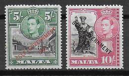 MALTA - YVERT N°214/215 * MLH - COTE = 45 EUR. - Malta