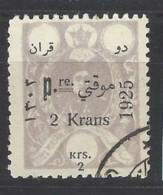 Persia - 1925 - Usato/used - Sovrastampati - Mi N. 507 - Iran
