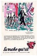 Buvard  La Vache Qui Rit, Fromageries Bel. Série Les Découvertes, Dessin De Luc Marie Bayle. N° 4 Savorgnan De Brazza. - Buvards, Protège-cahiers Illustrés