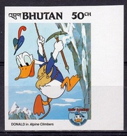 Bhutan 1984, Disney, Climber, 1val IMPERFORATED - Bhután