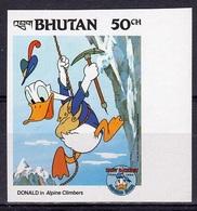 Bhutan 1984, Disney, Climber, 1val IMPERFORATED - Bhutan
