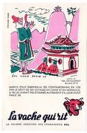 Buvard  La Vache Qui Rit, Fromageries Bel. Série Découvertes, Dessin De Luc Marie Bayle. N° 8 Marco Polo. - Buvards, Protège-cahiers Illustrés