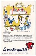 Buvard  La Vache Qui Rit, Fromageries Bel. Série Découvertes, Dessin De Luc Marie Bayle. N° 9 René Caillé. - Buvards, Protège-cahiers Illustrés