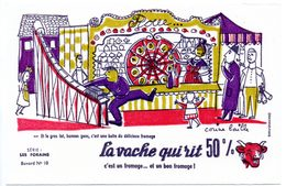 Buvard  La Vache Qui Rit, Fromageries Bel. Série Les Forains, Dessin De Corine Baille. N° 10 La Loterie. - Blotters