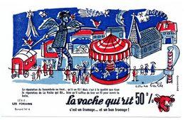 Buvard  La Vache Qui Rit, Fromageries Bel. Série Les Forains, Dessin De Corine Baille. N° 4 Le Funambule - Blotters