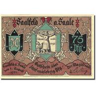 Billet, Allemagne, Saalfeld, 75 Pfennig, Eglise 1921-08-01, SPL Mehl 1155.5b - Germany