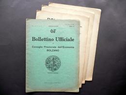 Bollettino Ufficiale Consiglio Provinciale Dell'Economia Bolzano Anno VI 1928 - Libri, Riviste, Fumetti