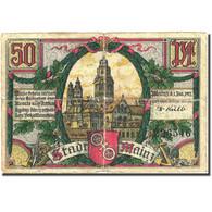 Billet, Allemagne, Mainz, 50 Pfennig, Monument 1, 1921, B Mehl 860.1a - Germany
