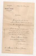 1882 LETTRE DU MAIRE DE SAINT REMY DE PROVENCE A MAIRE GRAVESON  / PROJET  CANAL DES ALPINES  B731 - Documents Historiques
