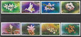 1976 BHOUTAN 508-15** Fleurs, Orchidées - Bhutan