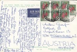 NEW ZEALAND 1968 - 7 Fach Frankierung Auf Ak LAKE ROTOITI, NELSON - Neuseeland