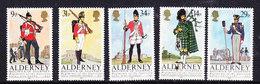 Alderney 1985 Regiments / Uniforms 5v ** Mnh (41316B) - Alderney