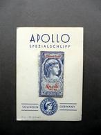 Lametta Da Barba Apollo Spezialschliff Solingen Germania 1952 Campione Sigillato - Altre Collezioni