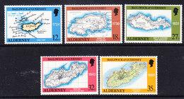 Alderney 1989 Old Maps 5v ** Mnh (41316C) - Alderney