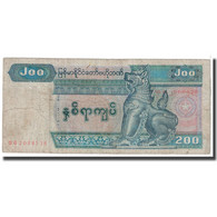 Billet, Myanmar, 200 Kyats, 1991, KM:75b, B - Myanmar
