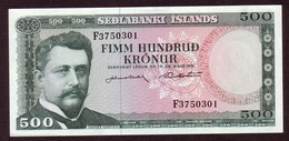 ISLANDE 500 Kronur Du 29 03 1961 - Pick 45 - UNC - Islande