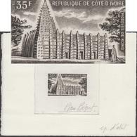 Côte D'Ivoire 1974 Y&T 367. Épreuve D'artiste. Mosquée De Kong, De Style Soudanais. Briques De Terre Crues Consolidées - Islam