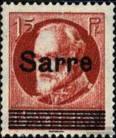 Saar 20b With Hinge 1920 King Ludwig - 1920-35 League Of Nations