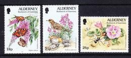 Alderney 1997 Fauna & Flora 3v  ** Mnh (41316G) - Alderney