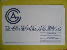 Buvard  Compagnie Générale D'assurances - Blotters