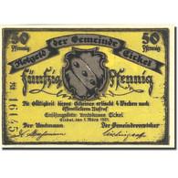 Billet, Allemagne, Eickel, 50 Pfennig, Château 1, 1921-03-01, SPL Mehl 314.1a - Germany