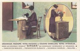 Remiremont ,pub Du Magasin Singer,10 Rue De La Xavée,1932,  2 Scans - Remiremont