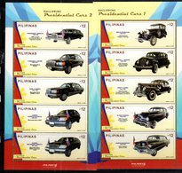 PHILIPPINES, 2018, MNH, PRESIDENTIAL CARS, MERCEDES, 2 SHEETLETS - Auto's