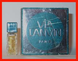LANVIN : Via Lanvin, Eau De Parfum. Version 1971, Parfait état - Miniatures Womens' Fragrances (in Box)