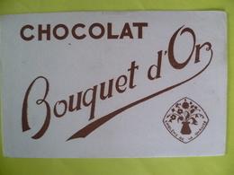 Buvard   Chocolat BOUQUET D OR - Blotters