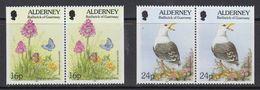 Alderney 1994 Fauna & Flora 2x2v From Booklet   ** Mnh (41316J) - Alderney