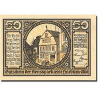 Billet, Allemagne, Harburg, 50 Pfennig, Route, 1921, 1921-12-31, SPL Mehl 580.1a - Germany
