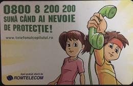 Paco \ ROMANIA \ RO-ROM-0364 A - Chip Red \ The Children's Hotline \ Usata - Romania
