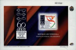 Ref. 89252 * NEW *  - VENEZUELA . 1998. 60 A�OS DE LA CONTRALORIA DE LA REPUBLICA - Venezuela