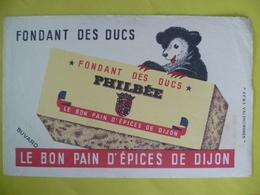 Buvard   Fondant Des Ducs PHILBEE Le Bon Pain D'épices De Dijon - Blotters