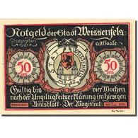 Billet, Allemagne, Weissenfels, 50 Pfennig, Personnage 5, 1921, SPL, Mehl:1403.2 - Germany