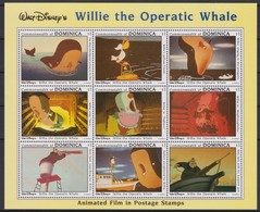 2443  Walt Disney   Commonwealth Of Dominica 1993 ( Willie The Operatic Whale )  Animated Film In Postage Stamps . - Disney