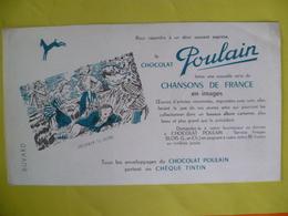 Buvard   Le Chocolat POULAIN Chèque Tintin - Blotters