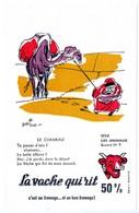 Buvard La Vache Qui Rit, Fromageries Bel. Série Les Animaux Dessin De Beuville N°9 Le Chameau - Papel Secante
