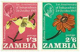Ref. 233168 * NEW *  - ZAMBIA . 1965. 1st ANNIVERSARY OF INDEPENDENCE. 1 ANIVERSARIO DE LA INDEPENDENCIA - Zambia (1965-...)