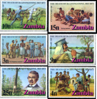 Ref. 244269 * HINGED *  - ZAMBIA . 1973. CENTENARIO DE LA MUERTE DEL EXPLORADOR DAVID LIVINGGSTONE - Zambia (1965-...)