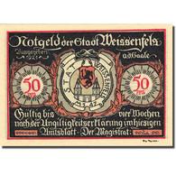 Billet, Allemagne, Weissenfels, 50 Pfennig, Personnage 4, 1921, SPL, Mehl:1403.2 - Germany