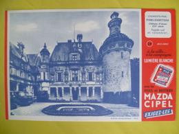 Buvard   Pile MAZDA CIPEL Chateau D'usson - Blotters