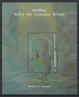 2444  Walt Disney   Commonwealth Of Dominica 1993 ( Willie The Operatic Whale )  Willie In Heaven . - Disney